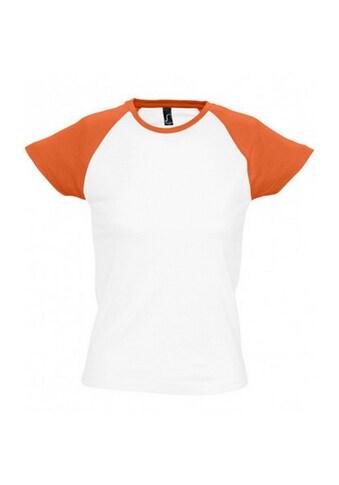 SOLS T-Shirt »Milky Damen, Kurzarm, Rundhalsausschnitt, Kontrastfarben« kaufen