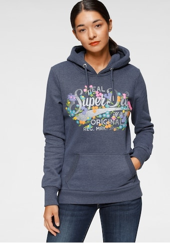 Superdry Kapuzensweatshirt »REAL ORIGINALS FLORAL HOOD«, im floralem Vintage Design in... kaufen