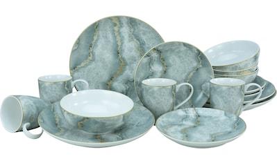 Leonique Kombiservice »Claudine«, (Set, 16 tlg.), Marmor-Sturktur kaufen