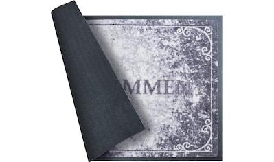 Grund Fußmatte »Willkommen«, rechteckig, 8 mm Höhe, In- und Outdoor geeignet kaufen