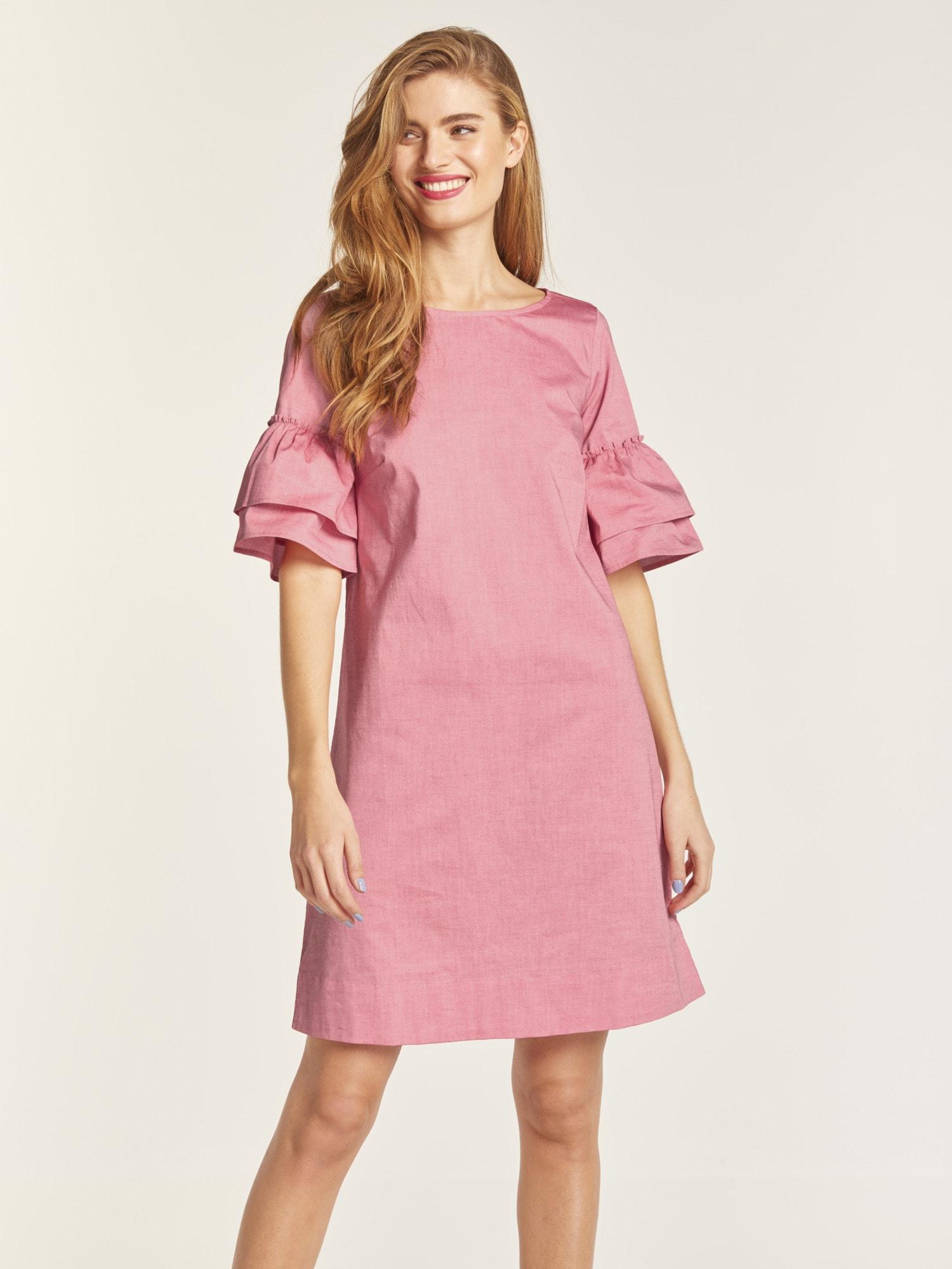 heine STYLE Kleid mit Volantärmel online bestellen   BAUR