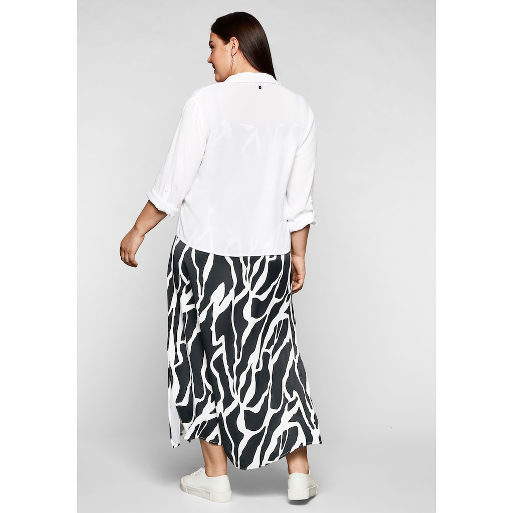 Sheego Trägerkleid, mit leicht transparenter Bluse