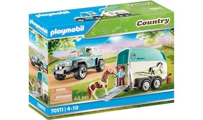 Playmobil® Konstruktions-Spielset »PKW mit Ponyanhänger (70511), Country«, (44 St.),... kaufen