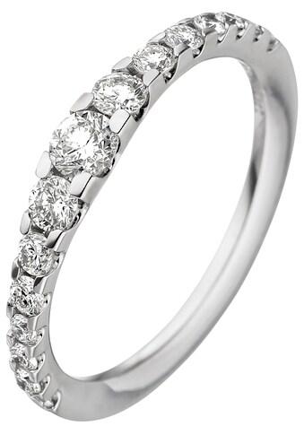 JOBO Diamantring, 585 Weißgold mit 15 Diamanten kaufen