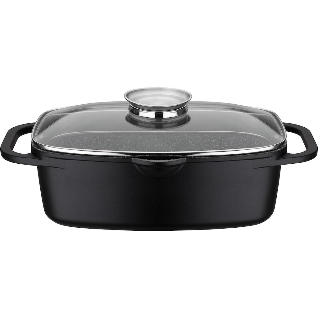 GSW Topf-Set »Gourmet«, Aluminiumguss, (Set, 8 tlg., (3-tlg. Pfannen-Set, 2 Glasdeckel, 1 Bräter, 1 Wok, 1 Küchenzange))
