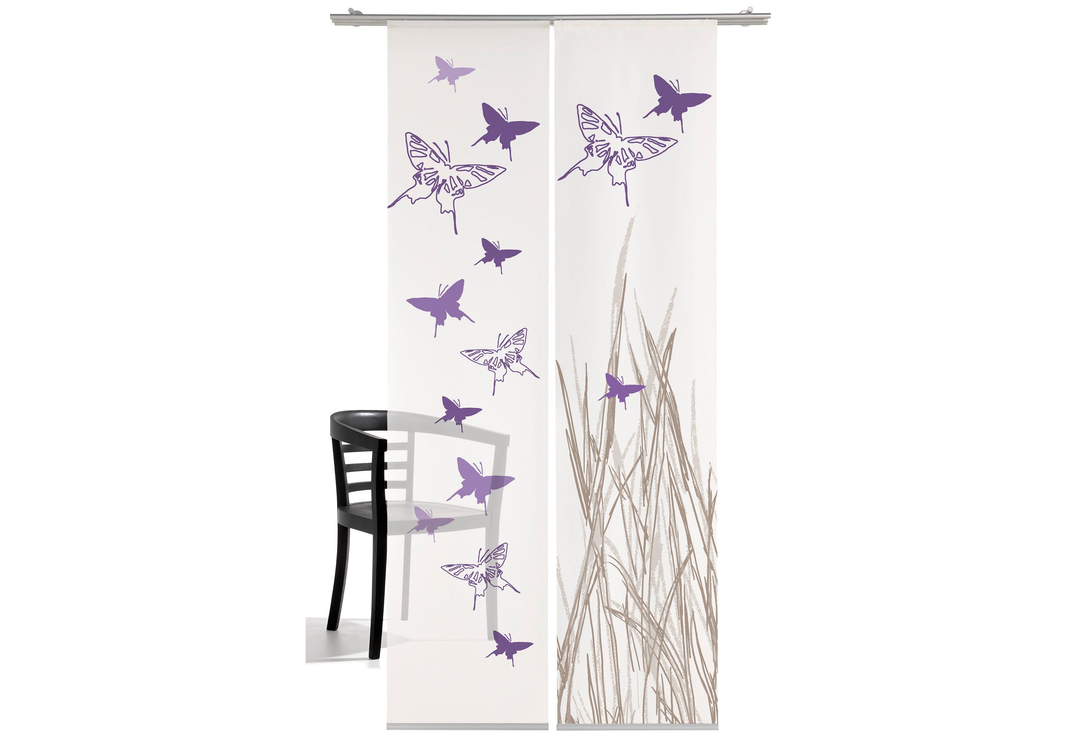EMOTIONTEXTILES Schiebegardine, Schmetterling, emotion textiles, Klettband 2 Stück 4260268851509 jetztbilligerkaufen.de
