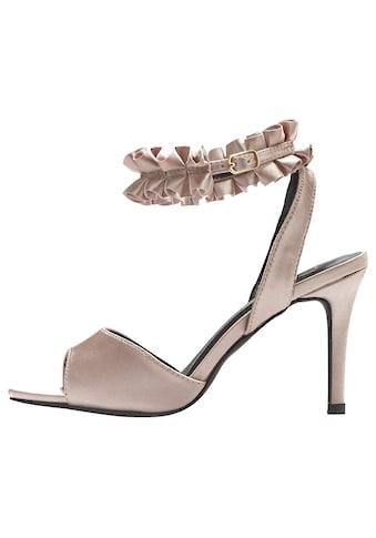 LASCANA High-Heel-Sandalette, mit Rüschenband kaufen