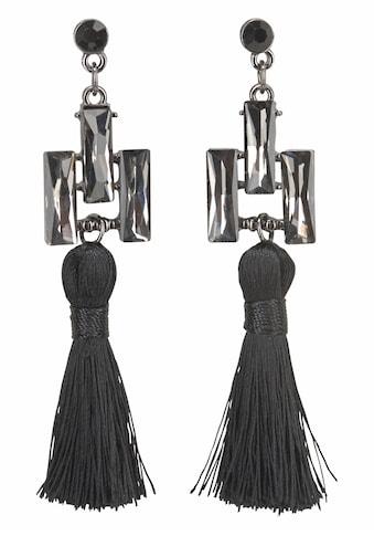 J.Jayz Paar Ohrstecker »Quasten, schwarz«, (1 tlg.), mit Glassteinen kaufen