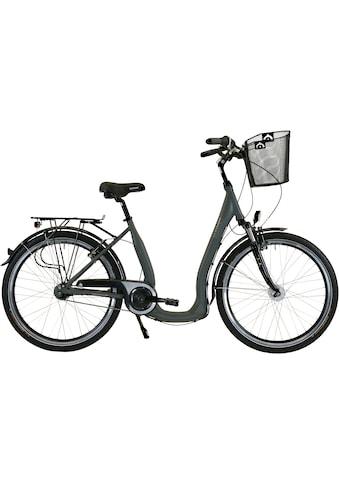 HAWK Bikes Cityrad »HAWK City Comfort Deluxe Plus Grey«, 7 Gang, Shimano, Nexus... kaufen