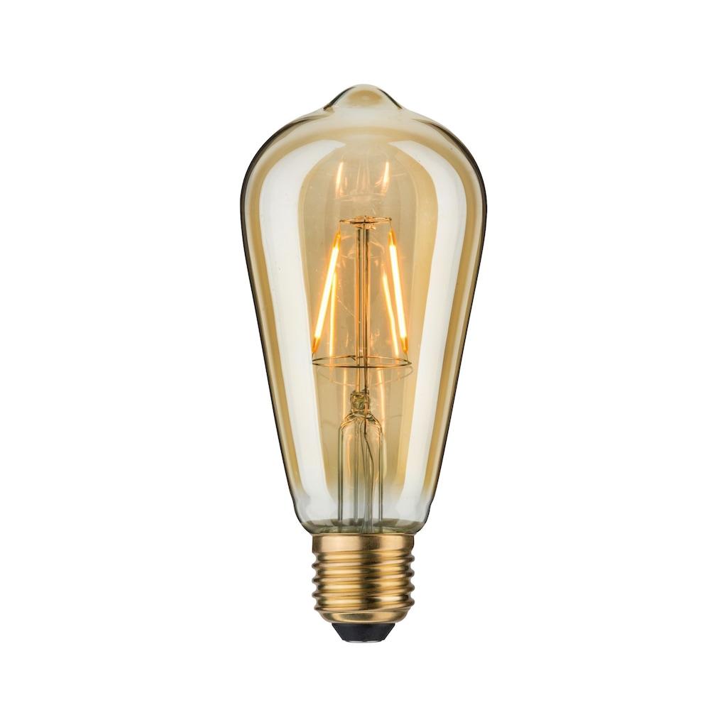 Paulmann LED-Leuchtmittel »Vintage Rustika 2,5W E27 Gold 1700K«, Extra-Warmweiß