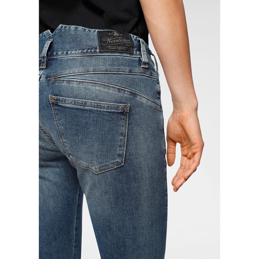 Herrlicher Slim-fit-Jeans »PEARL SLIM«, mit figurschmeichelnder Nahtführung