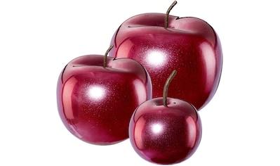 Dekoobjekt »Keramik Apfel  -  FESTIVAL« (Set, 3 Stück) kaufen