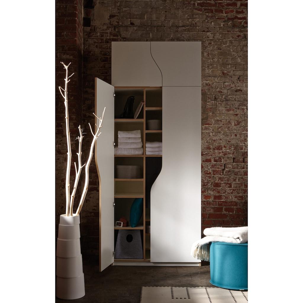 Müller SMALL LIVING Kleiderschrank »PLANE Ausstattung Nr. 1«, Inklusive einer Innenliegenden Tür und 2 Kleiderstangen