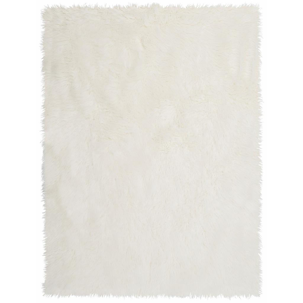 KiNZLER Fellteppich »Pireo«, rechteckig, 70 mm Höhe, synthetischer Flokati, Wohnzimmer