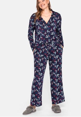 Sheego Pyjamahose, mit floralem Alloverdruck kaufen