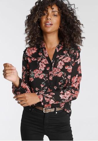 Tamaris Druckbluse, mit V-Ausschnitt mit Knopfleiste - NEUE KOLLEKTION kaufen