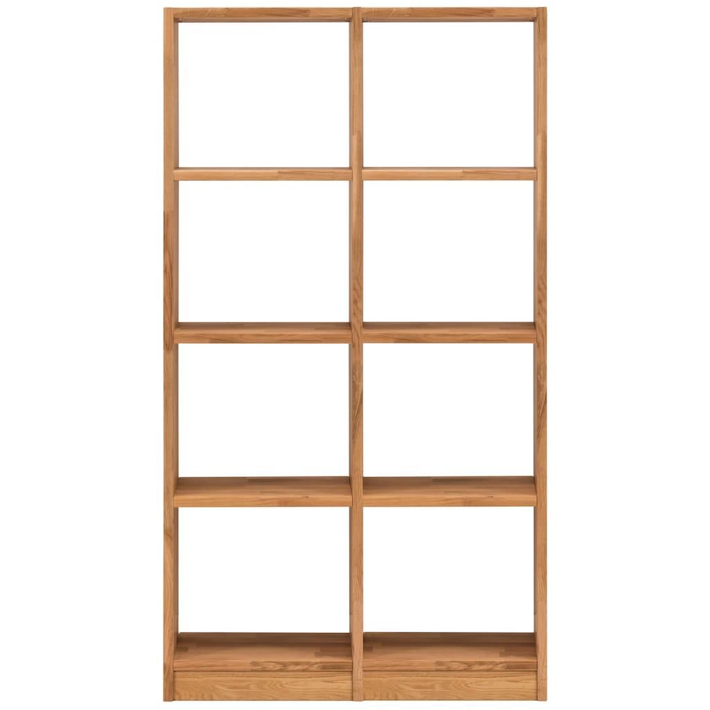 Premium collection by Home affaire Regalelement »Ecko«, aus schönem massivem Wildeichenholz, Breite 91,5 cm, mit 8 Fächern