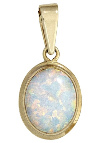 JOBO Kettenanhänger, oval 333 Gold mit synthetischem Opal kaufen