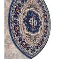 DELAVITA Teppich »Oriental«, oval, 7 mm Höhe, Orient-Optik, Wohnzimmer