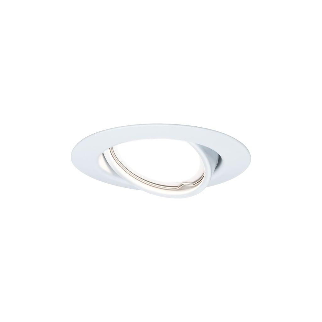 Paulmann LED Einbaustrahler »schwenkbar Base Weiß matt rund 3x5W GU10 3-Stufen-dimmbar«, GU10, 3 St., Warmweiß