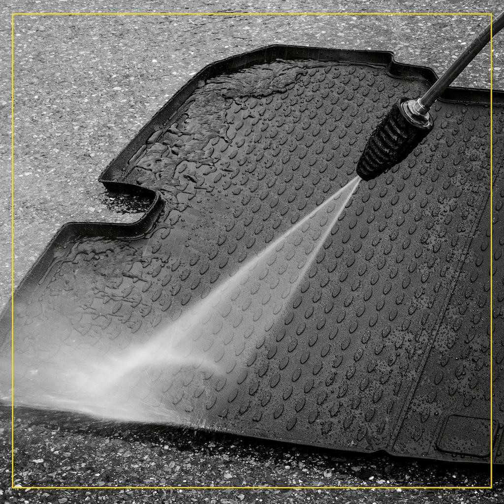 WALSER Passform-Fußmatten »XTR«, VW, Tiguan, Geländewagen, (4 St., 2 Vordermatten, 2 Rückmatten), für VW Tiguan BJ 2007 - 2018