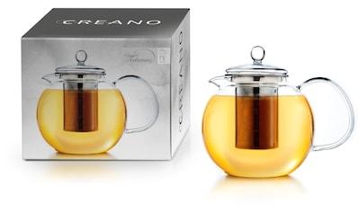 Creano Teekanne, 1,3 l, (1), Borosilikatglas, inkl. Edelstahlfilter kaufen