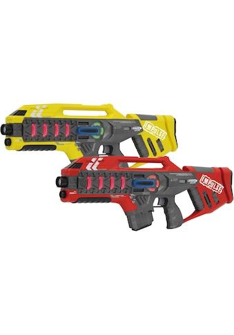 """Jamara Laserpistole """"Impulse Laser Gun Rifle gelb/rot"""", (Set, 2 - tlg.) kaufen"""