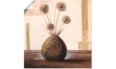 Artland Wandbild »Goldene Vasen II«, Vasen & Töpfe, (1 St.), in vielen Größen &... kaufen