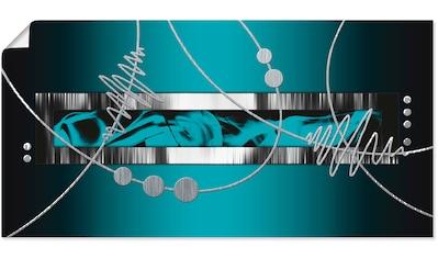 Artland Wandbild »Silber abstrakt auf petrol«, Gegenstandslos, (1 St.) kaufen