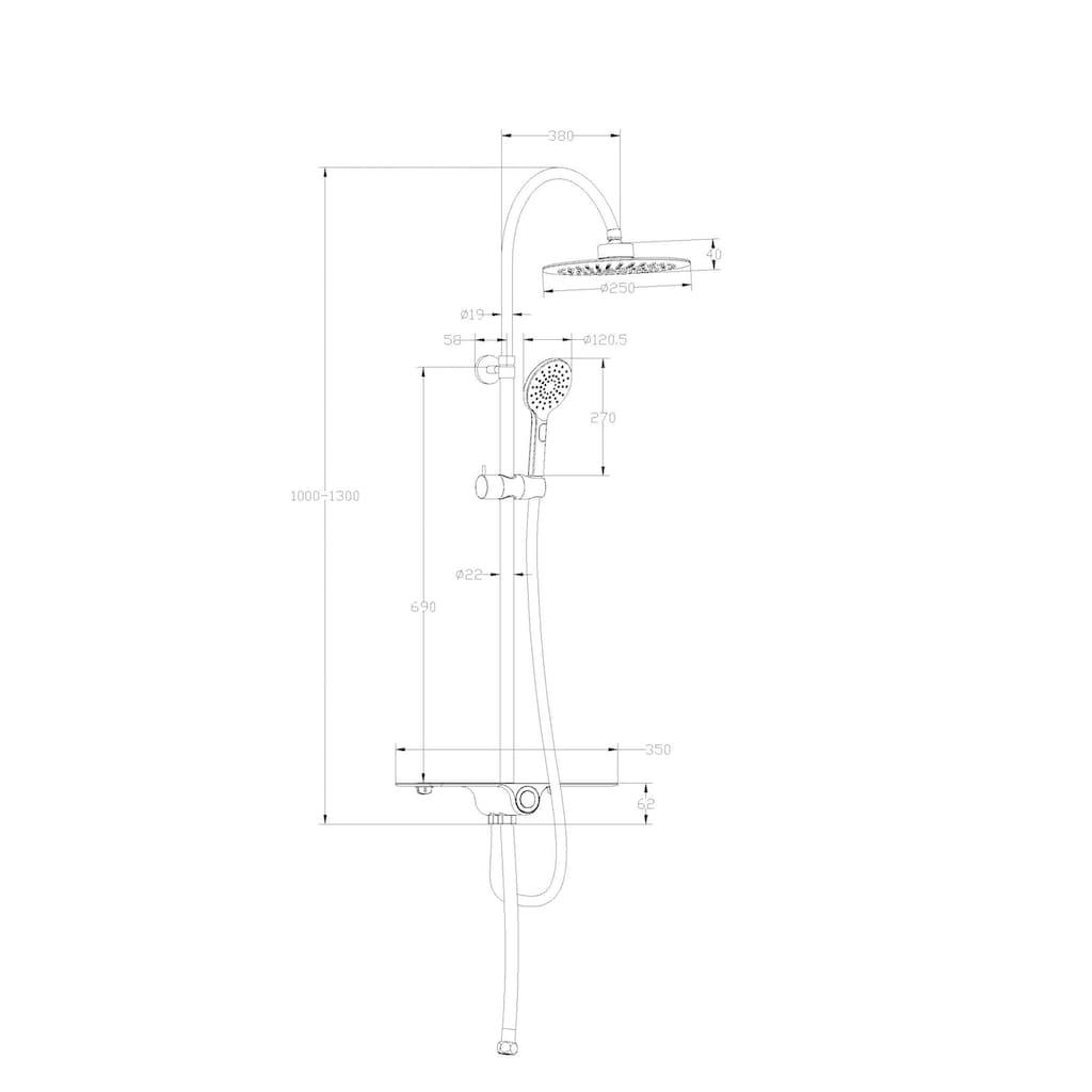 Schütte Brausegarnitur »Aquastar«, wird an eine bestehende Armatur angeschlossen