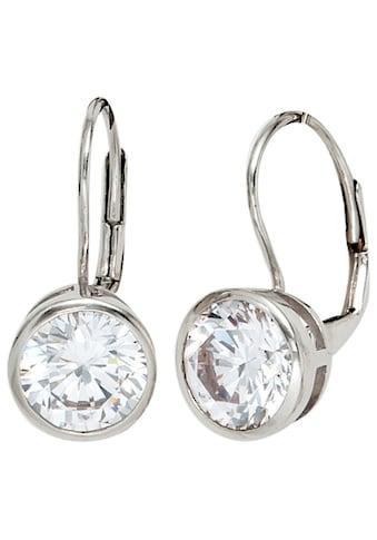 JOBO Paar Ohrhänger, rund 925 Silber mit Zirkonia kaufen