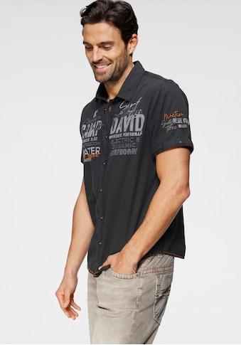 CAMP DAVID Kurzarmhemd, mit Logoprint kaufen