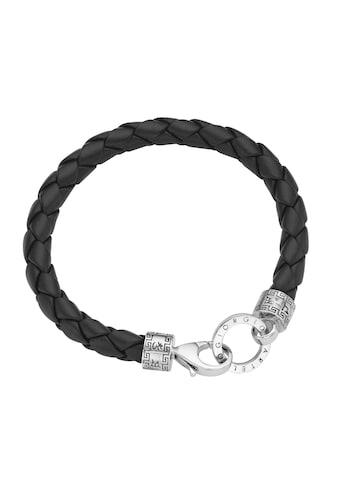 GIORGIO MARTELLO MILANO Armband »mit Ornament, teilweise oxydiert, Leder schwarz,... kaufen