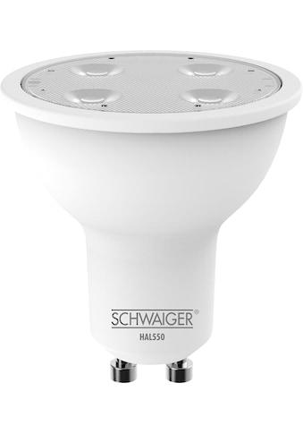Schwaiger LED Lampe GU10 dimmbar  - smarte LED -  Glühbirne RGBW »Multicolor Lichtsystem« kaufen