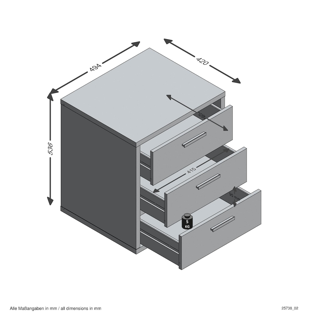 FMD Rollcontainer »Brick 2«