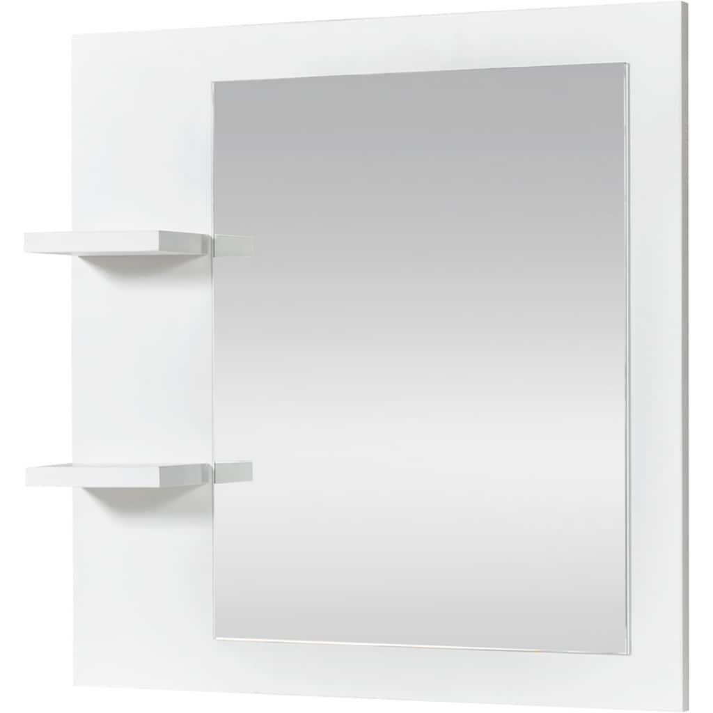 Home affaire Badspiegel »Arta«, aus Kiefer massiv, mit Ablageflächen