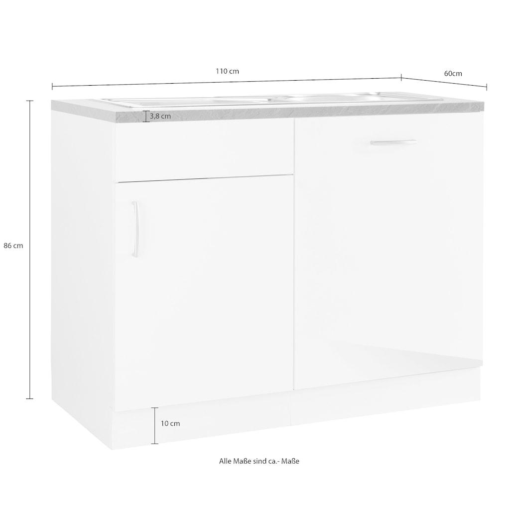 wiho Küchen Spülenschrank »Brüssel«, mit Tür/Sockel für Geschirrspüler