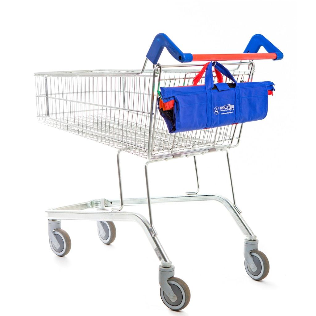 UPP Einkaufsshopper »Trolley Bags«, für Einkaufswagen, 4-teilig, kräftige Farbtöne