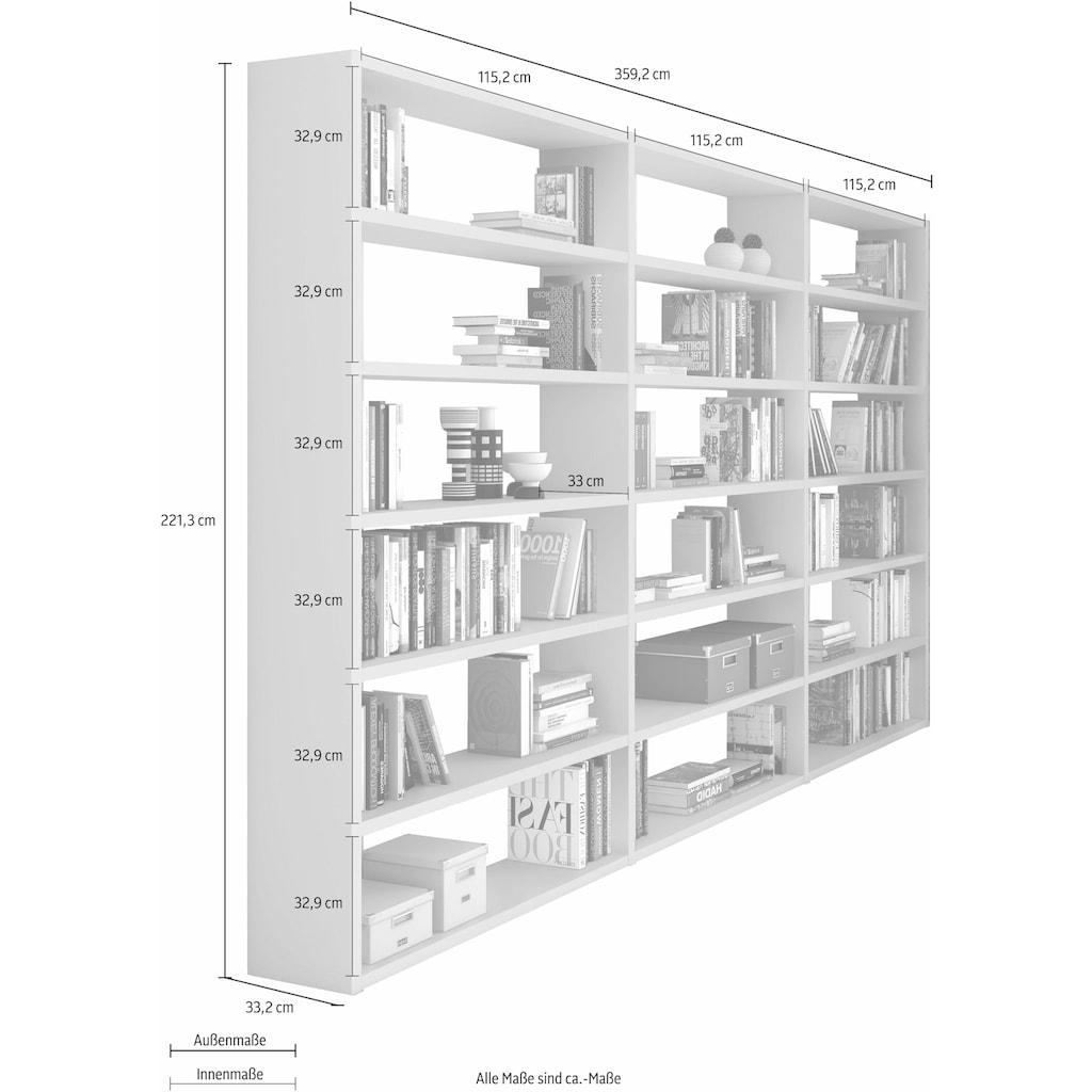 Raumteilerregal »Toro«, 18 Fächer, Breite 359,2 cm