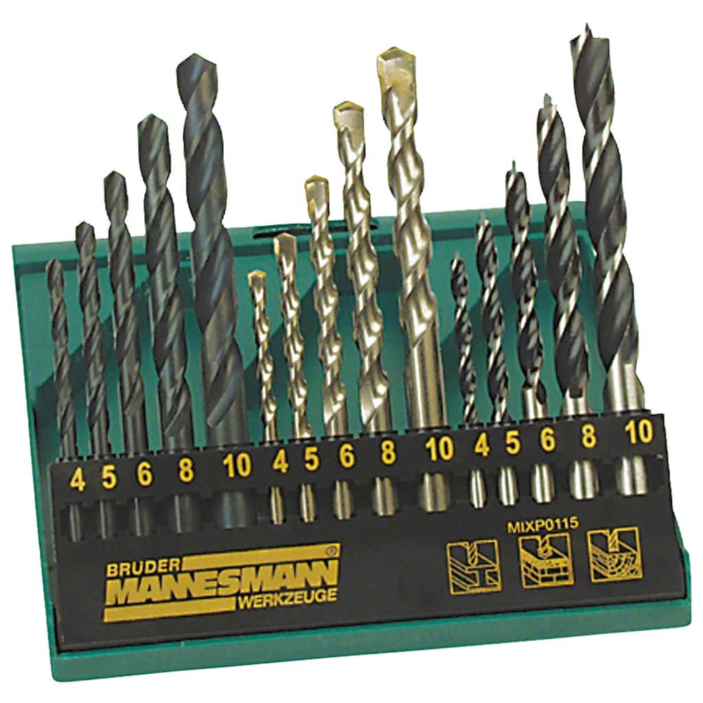 Brüder Mannesmann Werkzeuge Bohrersatz, (Set, 15 tlg.)