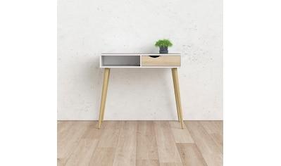 Home affaire Konsolentisch »Oslo«, mit einer grifflosen Schublade, mit einem offenen Ablagefach, Zweifarbig, Made in Denmark, Breite 103 cm kaufen