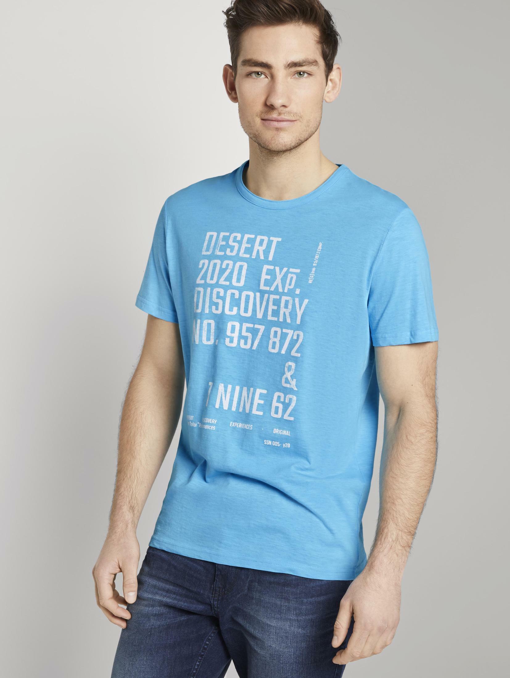 tom tailor -  T-Shirt Meliertes T-Shirt mit Print
