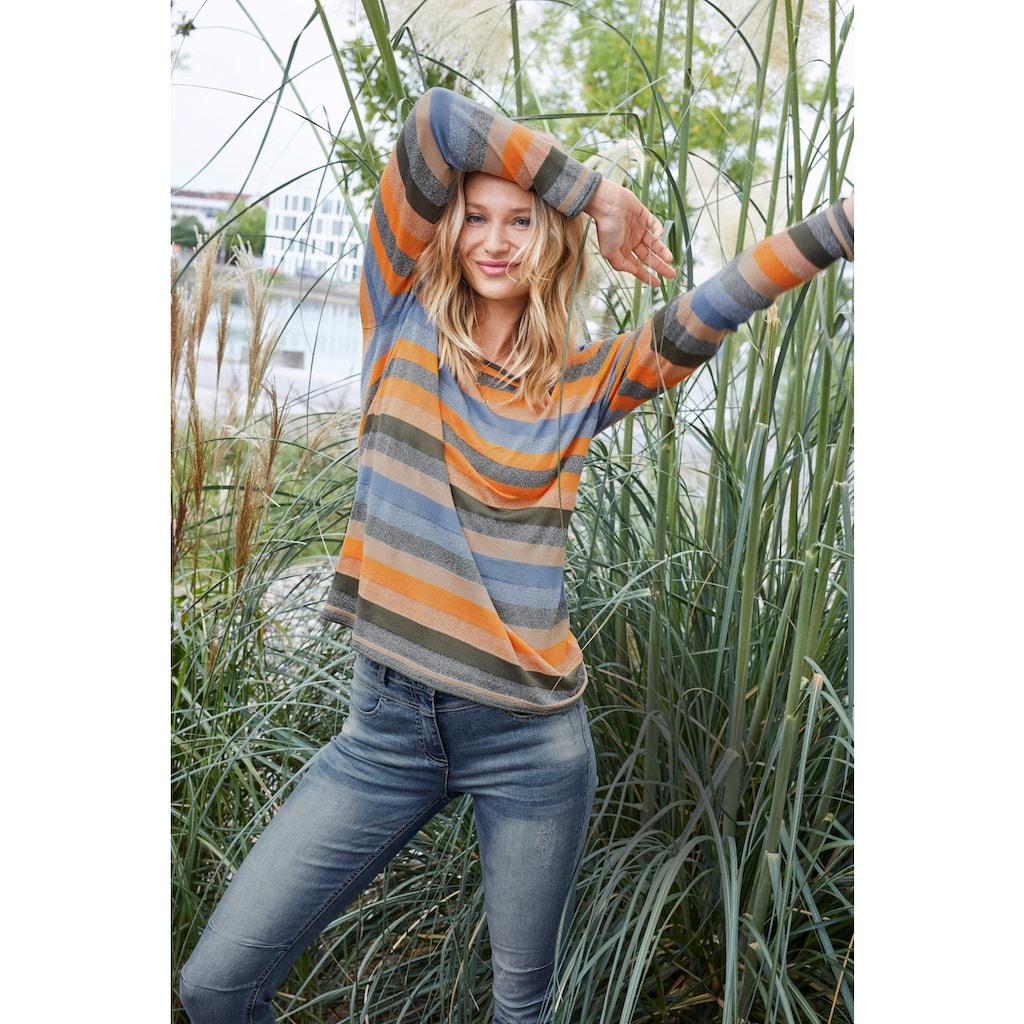 Aniston CASUAL Rundhalspullover, mit Glitzerfäden - NEUE KOLLEKTION