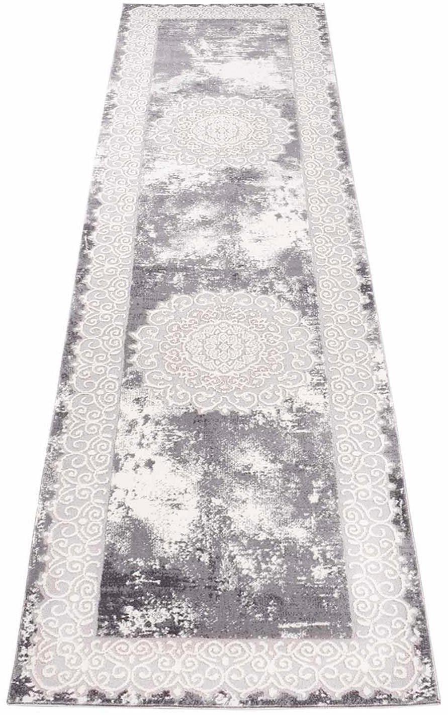 Läufer Platin 8058 Carpet City rechteckig Höhe 11 mm maschinell gewebt