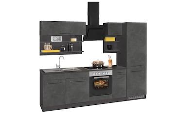 HELD MÖBEL Küchenzeile »Tulsa«, ohne E-Geräte, Breite 270 cm, schwarze Metallgriffe,... kaufen