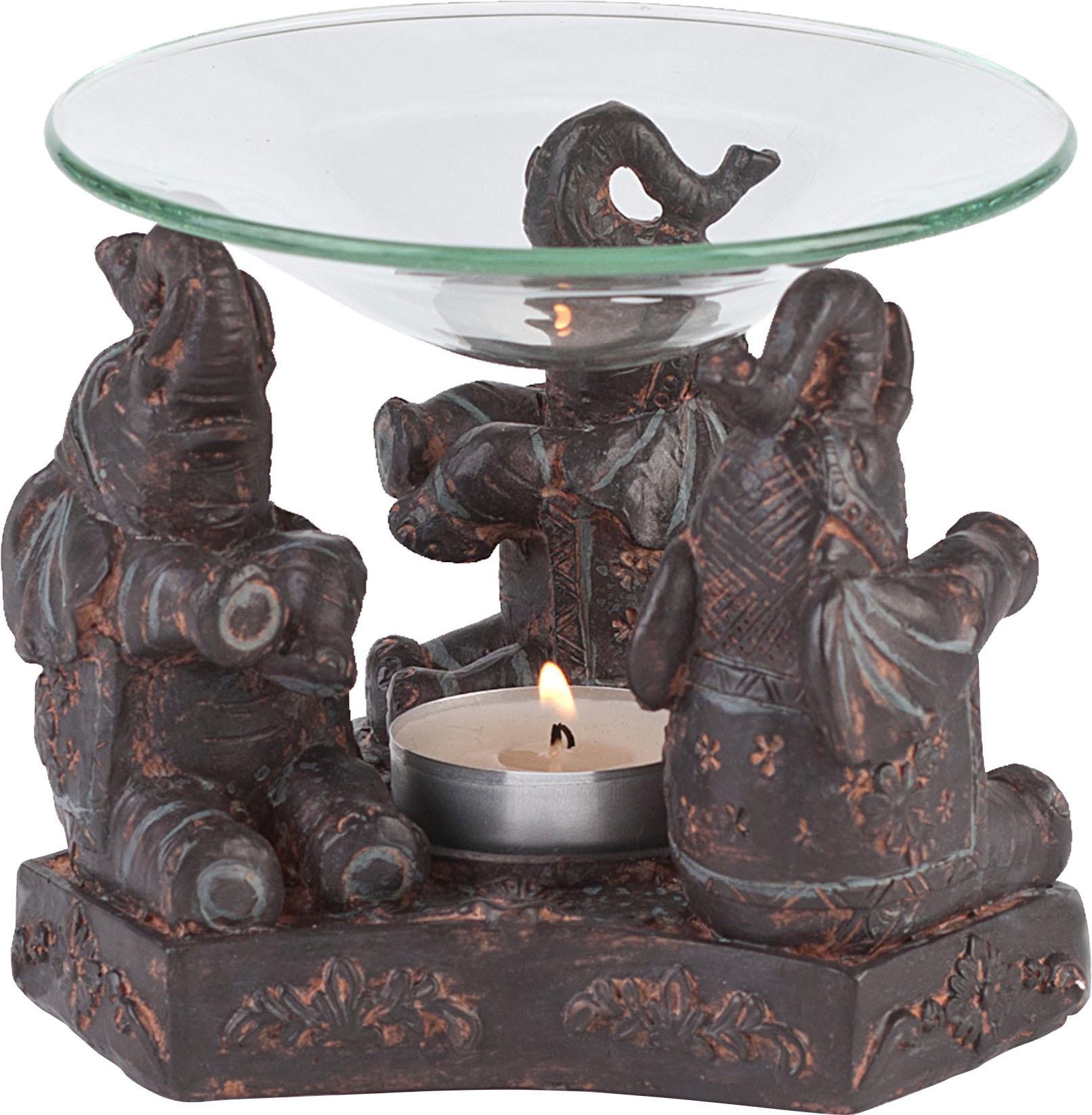 pajoma Duftlampe Elefant braun Kerzenhalter Kerzen Laternen Wohnaccessoires