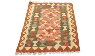 morgenland Wollteppich »Kelim Afghan Teppich handgewebt braun«, rechteckig, 4 mm Höhe,... kaufen