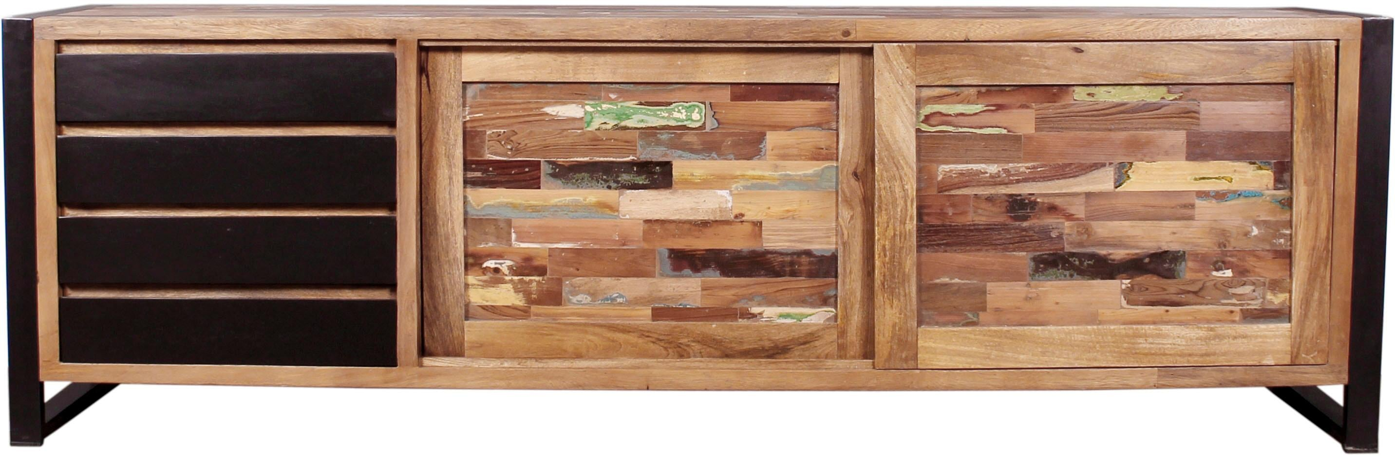 SIT Sideboard Mox L farbiges Recyclingholz mit Eisen