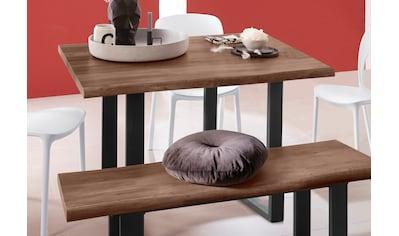 INOSIGN Baumkantentisch »Selina«, mit schönem Metallgestell und folierte Holzoptik auf... kaufen