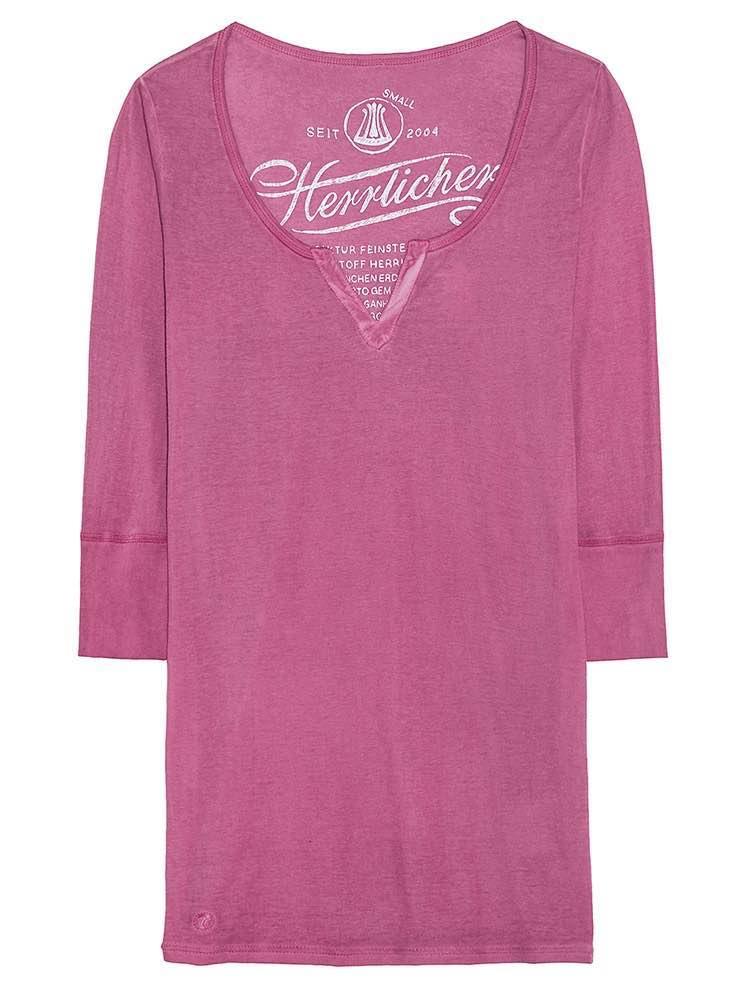 HERRLICHER Tunika in schlichtem Design | Bekleidung > Tuniken > Sonstige Tuniken | Rosa | Baumwolle | Herrlicher